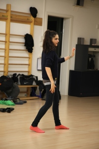 Dancing in my people clothes :)