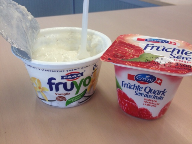 Quark and Greek yoghurt