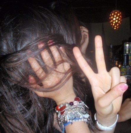 Me at 15 - wearing bracelets